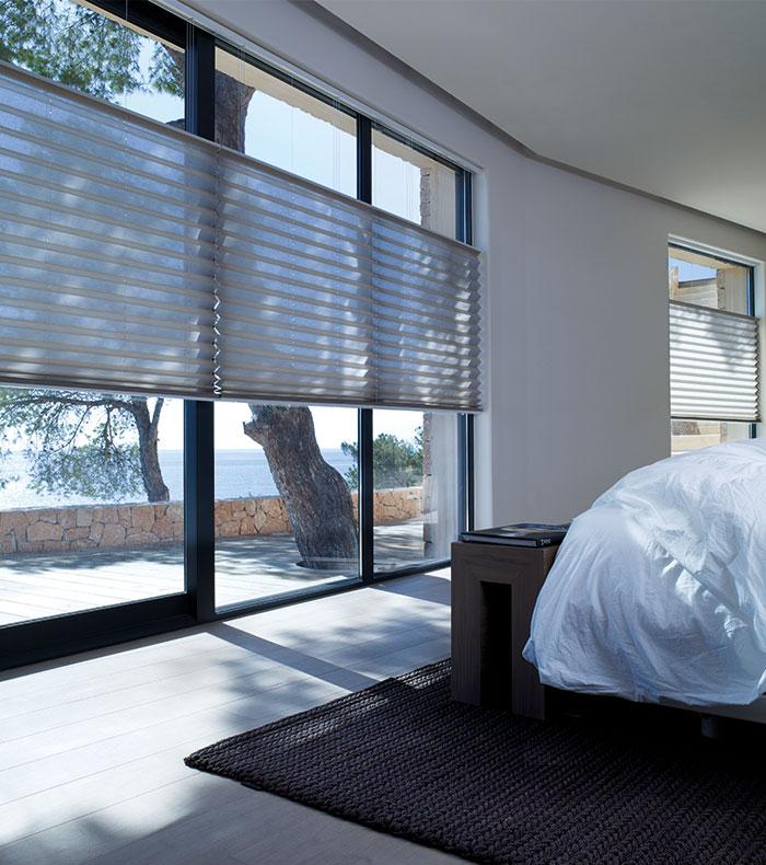 Variables Fenster Plissee im Wohnraum nutzen