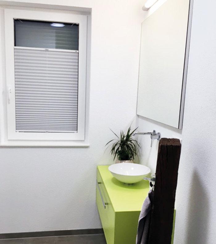 feuchtraum-plissee für badezimmer und küchen